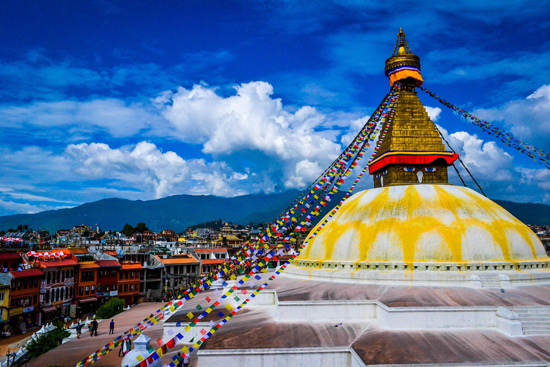 Boudhanath - the biggest Stupa in Asia (a place of meditation)