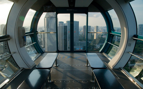 Singapore Flyer cabin