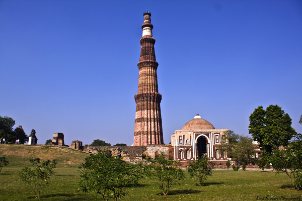 The Red Sandstone Tower of Qutb Minar