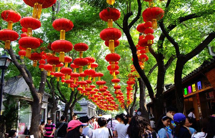 Trendy area Nanluoguxiang