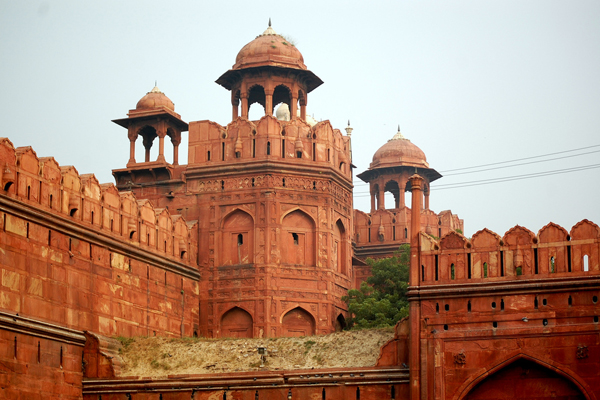 Walls of Lal Qila (Red Fort)