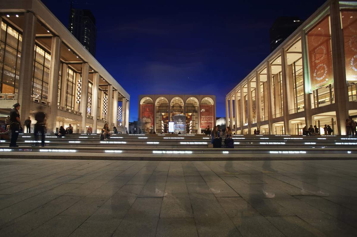Lincoln Center is seen during Fashion Week in New York