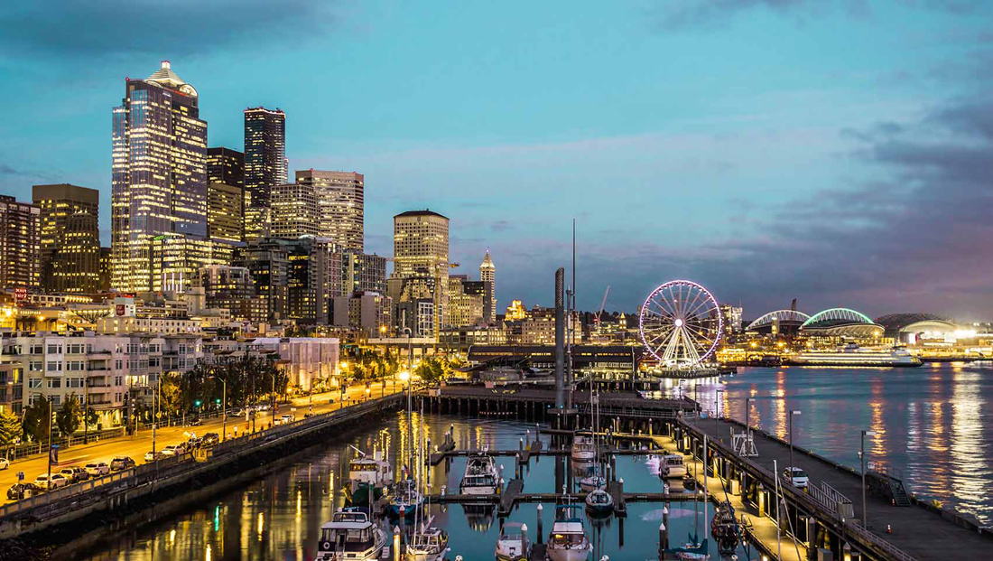 Seattle skyline, waterfront